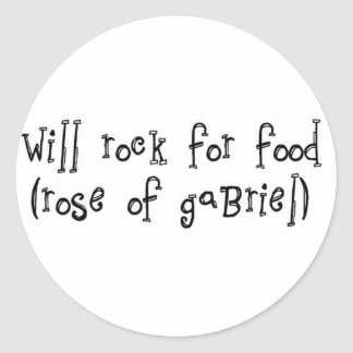 """will rock for food 3"""" sticker 6 pack"""