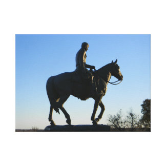 Will Rogers Into the Sunset Canvas Print
