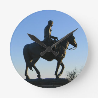 Will Rogers Into the Sunset Round Clock
