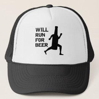 Will Run For Beer Trucker Hat