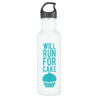 Will Run For Cake 710 Ml Water Bottle