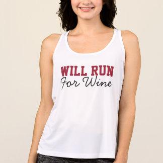 Will Run for Wine, Funny Running Runners Singlet