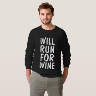 WILL RUN FOR WINE t-shirts