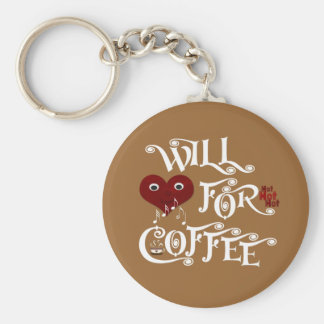 Will sing for coffee key ring