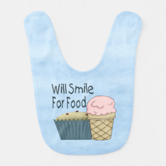 Will Smile for Food Bib