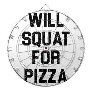 Will Squat for Pizza Dartboard