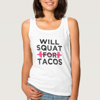 Will Squat for Tacos funny workout Singlet