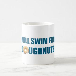 Will Swim for Doughnuts, funny gift Coffee Mug