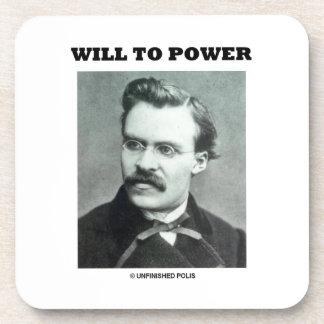 Will To Power Friedrich Nietzsche Drink Coasters
