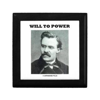 Will To Power Friedrich Nietzsche Trinket Box