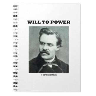 Will To Power Friedrich Nietzsche Notebook