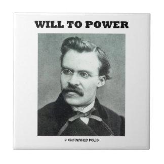 Will To Power Friedrich Nietzsche Ceramic Tiles