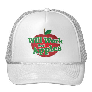Will Work for Apples Trucker Hats