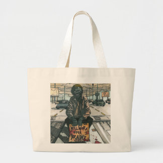 Will Work For Brainz Large Tote Bag