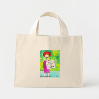 Will Work For Purses Canvas Bags