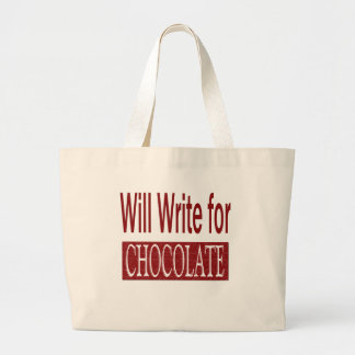 Will Write for Chocolate Gift for Writers Bags