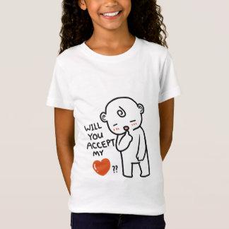 Will You Accept Love Girls' Fine Jersey T-Shirt