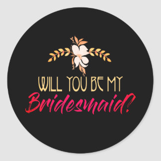 Will You Be Bridesmaid Sticker Set
