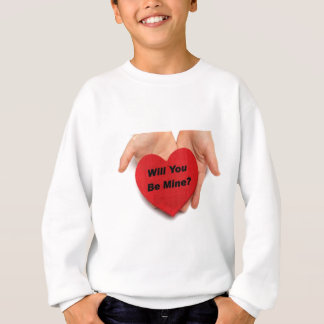 Will You Be Mine Valentine Hands Sweatshirt