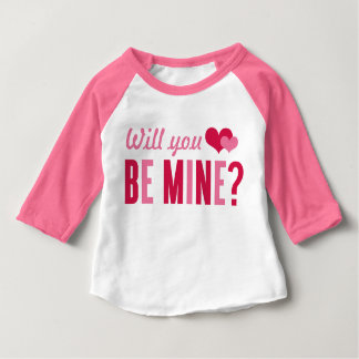 Will you be mine? | Valentine's Day Baby T-Shirt