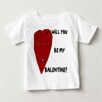 WILL YOU BE MY BALENTINE? baby tee