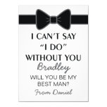 Will You Be My Best Man Black Bow Tie
