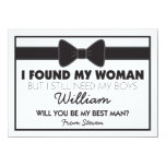 Will You Be My Best Man Black White Bow Tie