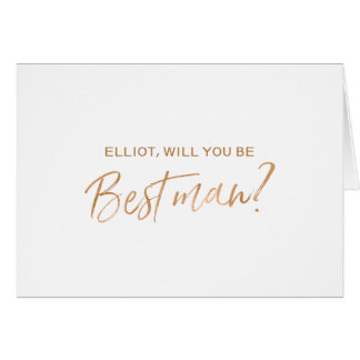 """Will you be my best man"" 