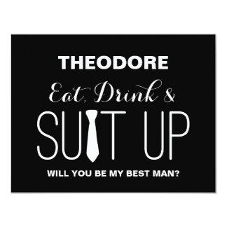 Will you be my Best Man ? | Groomsmen Card