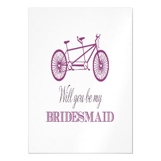 Will You Be My Bridemaid Magnetic Invitations