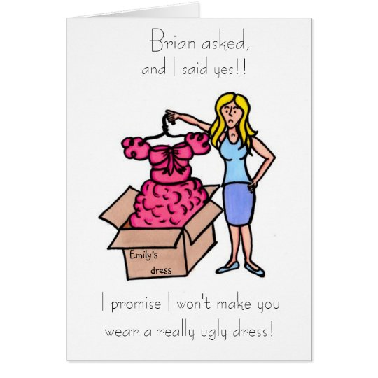 Will you be my bridesmad? Maid of Honour? Card