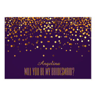 Will you be my bridesmaid? 13 cm x 18 cm invitation card