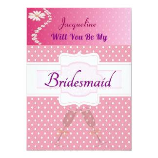 Will you be my Bridesmaid 14 Cm X 19 Cm Invitation Card