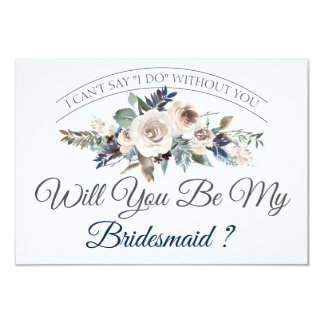 Will You Be My Bridesmaid | Boho Floral Card