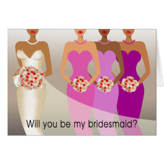 Will you be my Bridesmaid? Bridal Party | purple Card