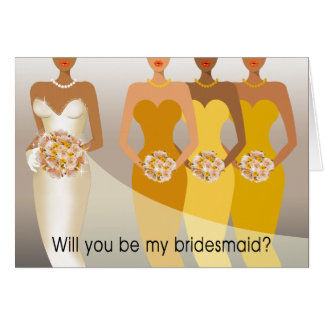 Will you be my Bridesmaid? Bridal Party | yellow Greeting Cards