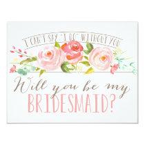 Will You Be My Bridesmaid   Bridesmaid 11 Cm X 14 Cm Invitation Card