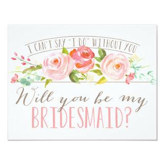 Will You Be My Bridesmaid | Bridesmaid 11 Cm X 14 Cm Invitation Card