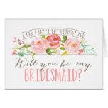 Will You Be My Bridesmaid | Bridesmaid Note Card