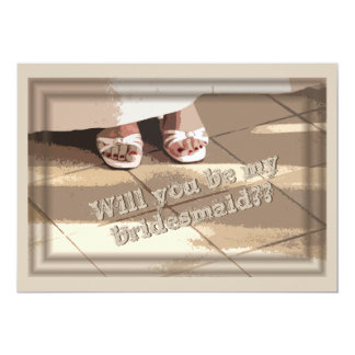 Will You Be My Bridesmaid? Bridesmaid Request Card