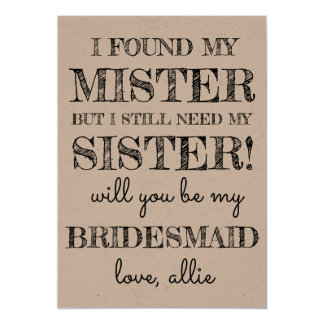 Will You Be My Bridesmaid | Card