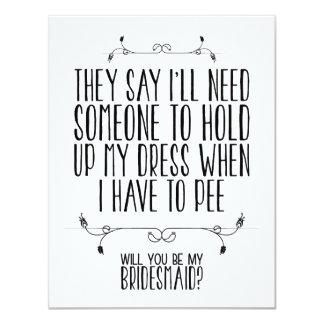WILL YOU BE MY BRIDESMAID? | CARD 11 CM X 14 CM INVITATION CARD