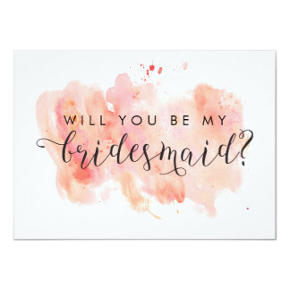 Will You Be My Bridesmaid Card 11 Cm X 16 Cm Invitation Card