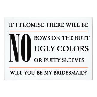 Will You Be My Bridesmaid Card 13 Cm X 18 Cm Invitation Card