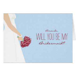 Will You Be My Bridesmaid Card (baby blue)