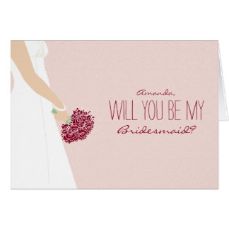 Will You Be My Bridesmaid Card (blush)