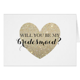 Will You Be My Bridesmaid Card - Bridal Heart Fab