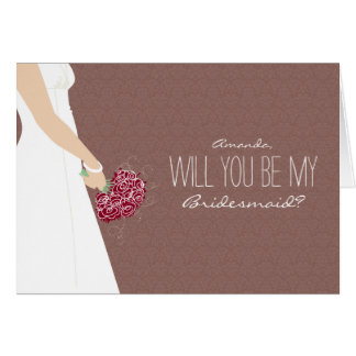 Will You Be My Bridesmaid Card (chocolate)