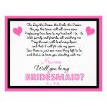 Will you be my Bridesmaid? Card Custom Invitation