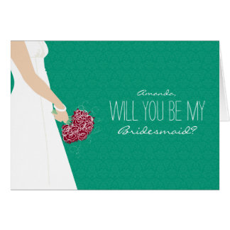 Will You Be My Bridesmaid Card (emerald)